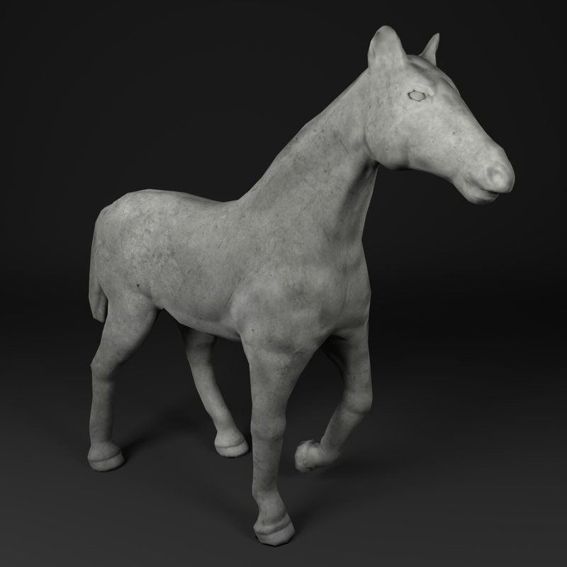 horse statue 3D model