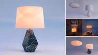 Chic Table & Ceiling Lamp Set