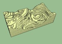 3D topography table