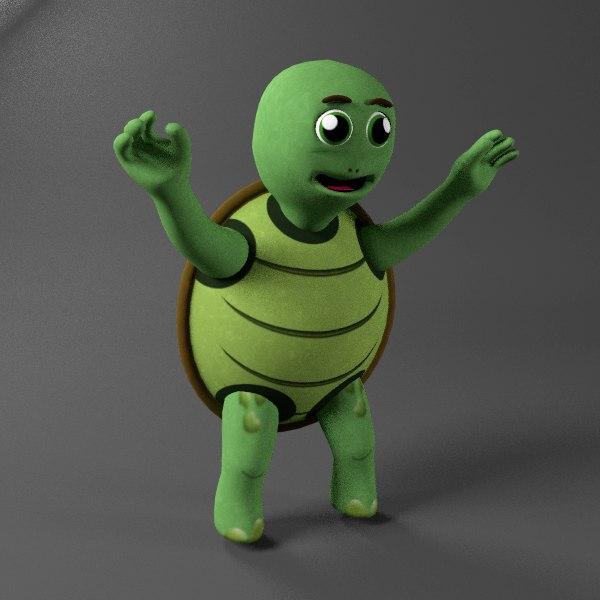 turtle kid 3D