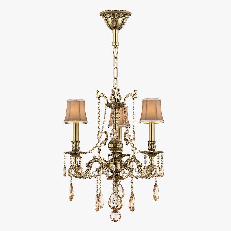 3D model chandelier md 6655-3 osgona