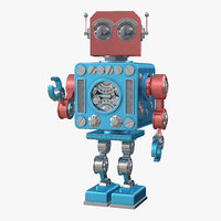 3D model retro robot toy