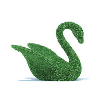swan shaped hedge 3D model