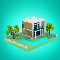Low Poly Houses set 1