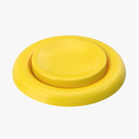 3D button 04 yellow model