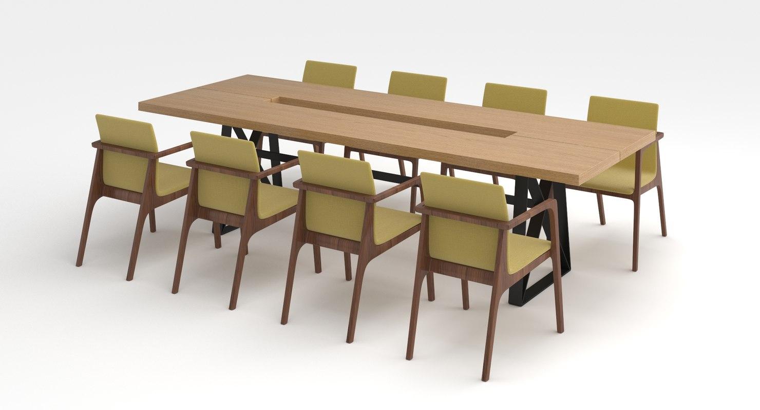 3D table set model