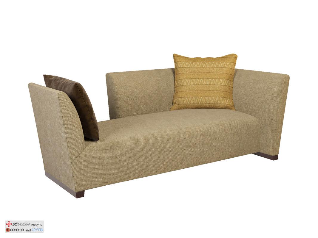 island sofa petite donghia 3D
