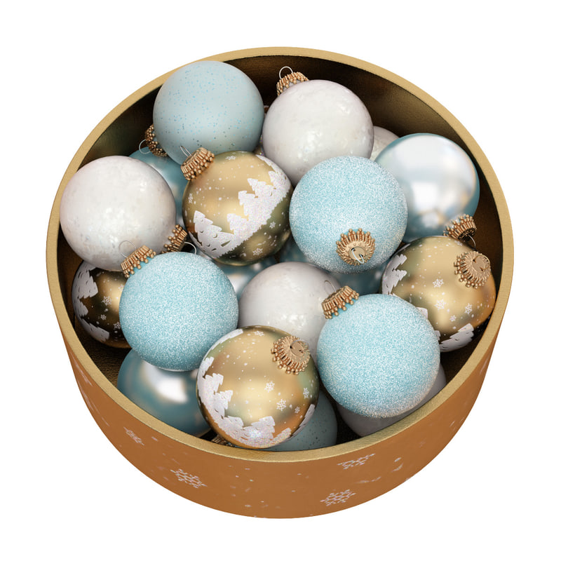 3D christmas balls box