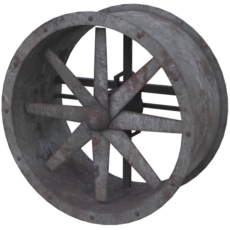 3D axial flow fan 1