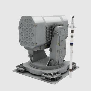 3D rim-116 missile model