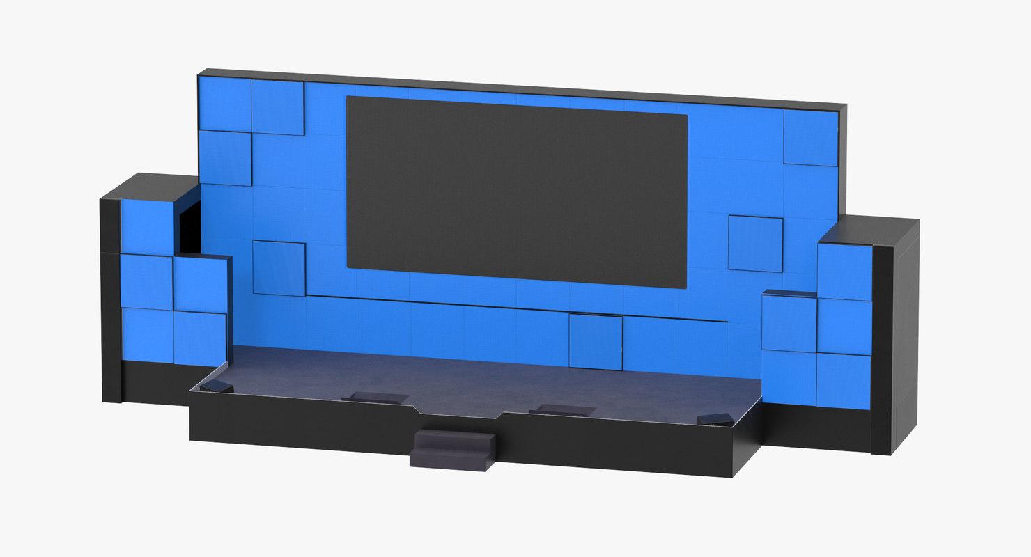3D model tech talk stage