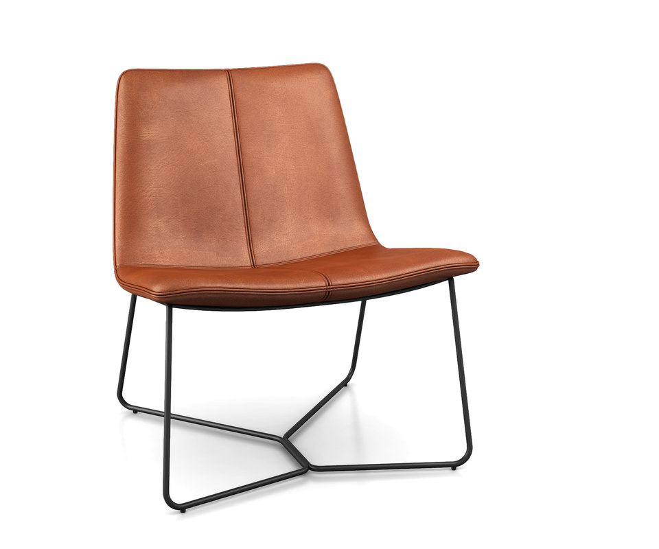 3D slope leather lounge chair