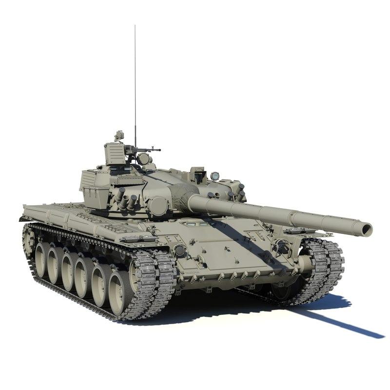 t-80 tank 3D model