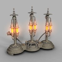 lamp steampunk 3D