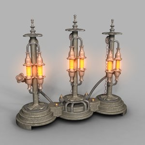 lamp steampunk 3D