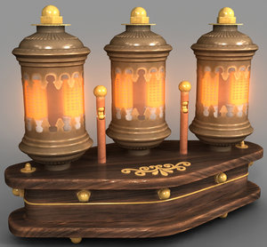 lamp steampunk 3D model