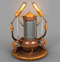 3D lamp steampunk