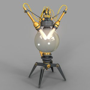 3D lamp steampunk model