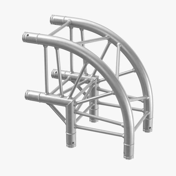 stage truss corner curved 3D model