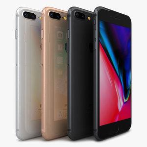 apple iphone 8 color 3D