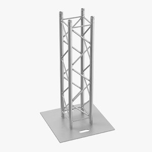 3D stage truss pillar 01 model