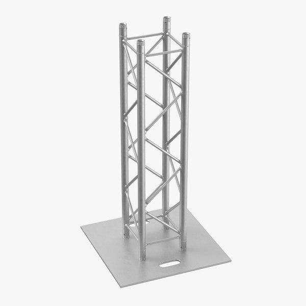 3D stage truss pillar 01 model