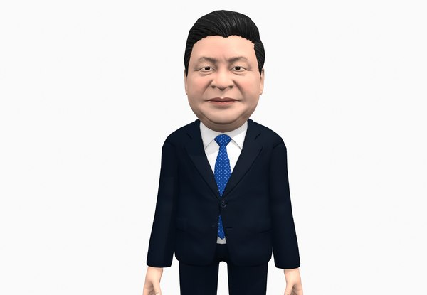 3D model caricature xi jinping