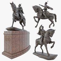 realistic monument amir temur 3D