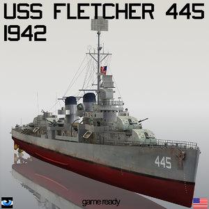 fletcher dd 445 model