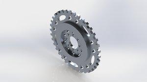 3D lightened flywheel model