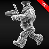 bull policeman 3D model