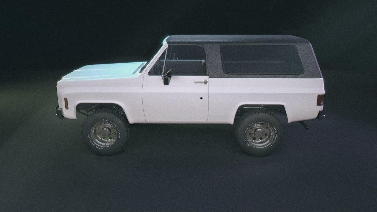 3D chevrolet blazer 1973 model
