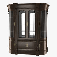 wooden cabinet 3D