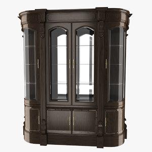 wooden cabinet 3D