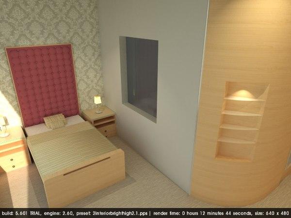 3D 4 star hotel room