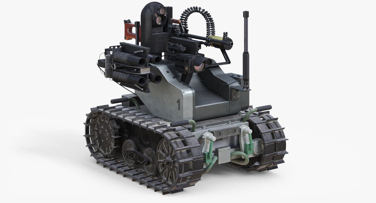 military robot swords 3D