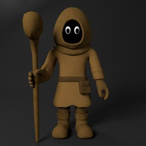 3D cartoon mage
