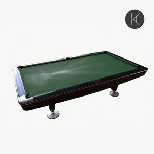 dynamic pool table 3D model