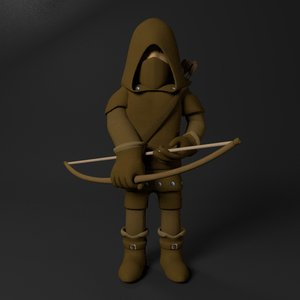 3D cartoon archer