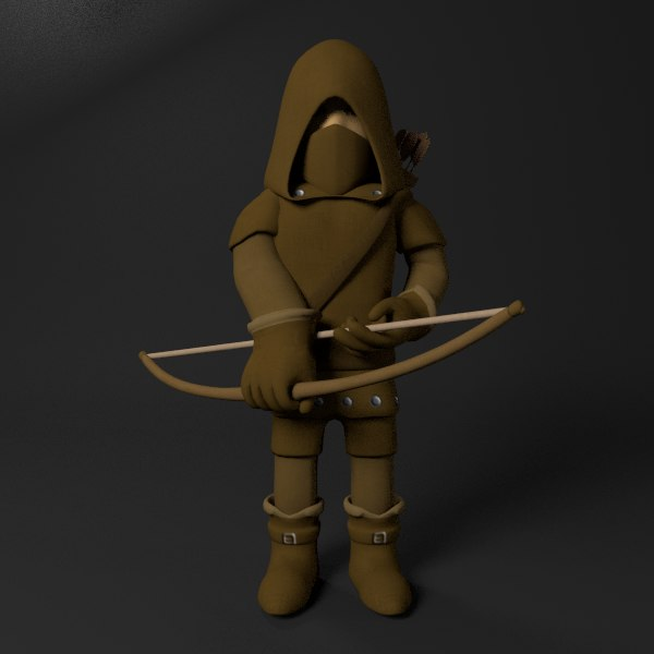 3D cartoon archer