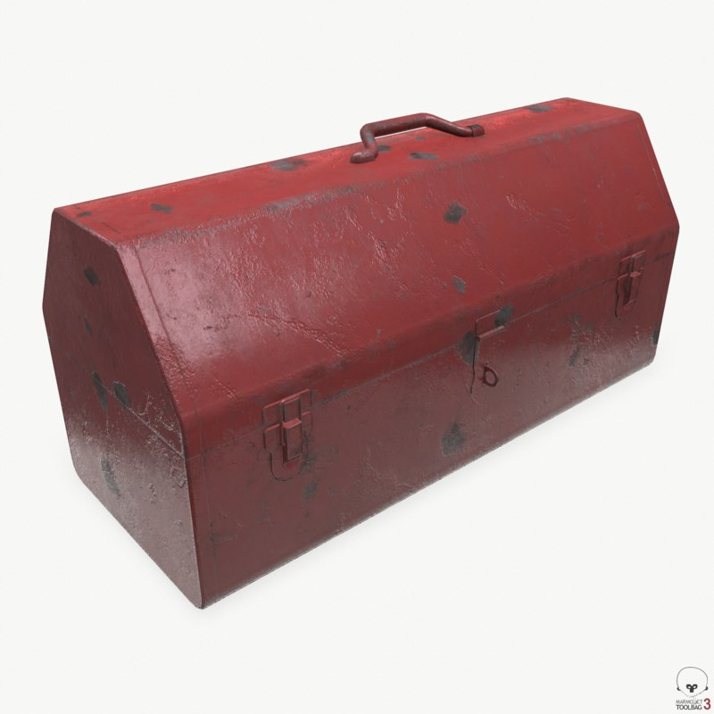 3D vintage tool box model