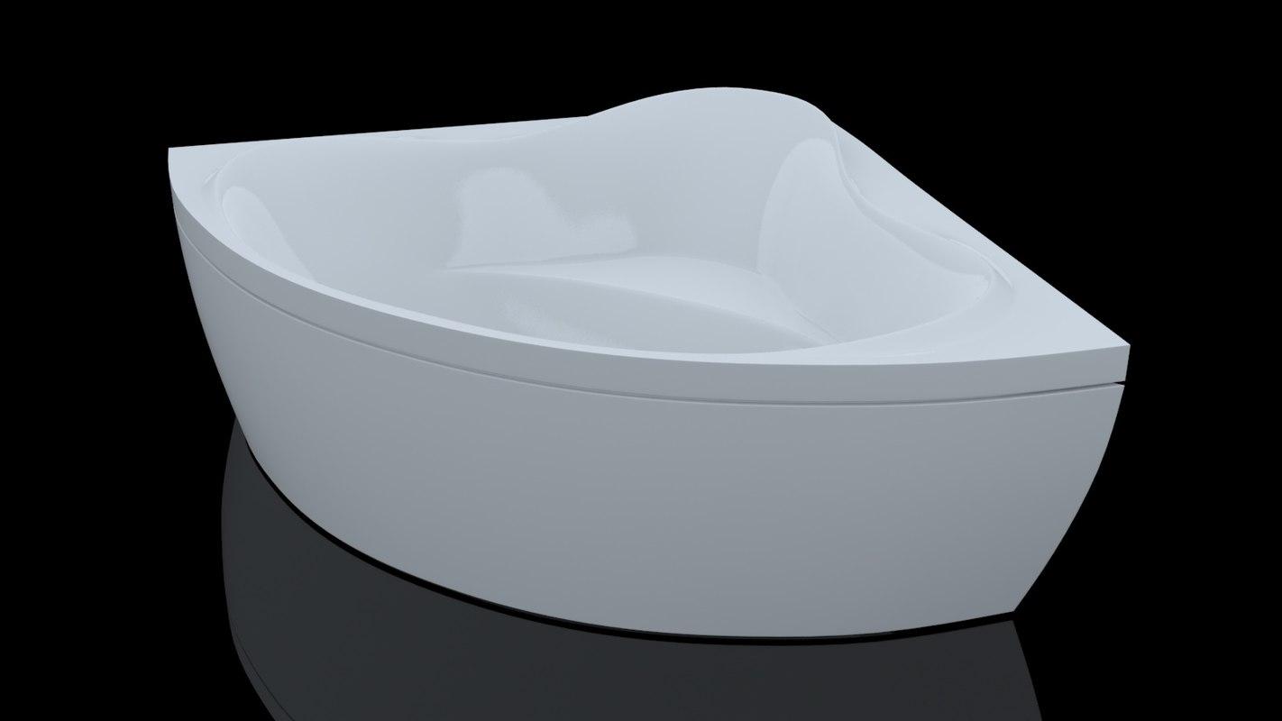 3D bathtube troy extra 15001500mm