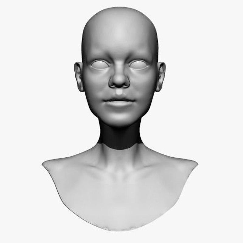 girls head zbrush ztl 3D model