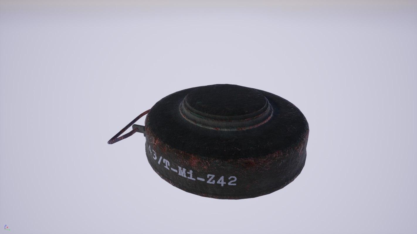 tellermine landmine 3D