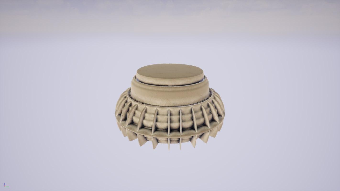 3D model vs 2 anti-tank landmine
