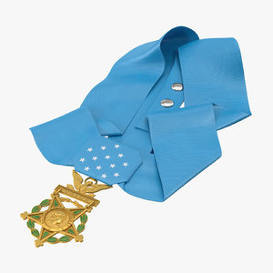 3D medal honor army laying