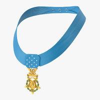 3D medal honor army worn model