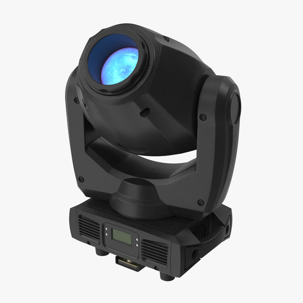 3D colored spot stage light model