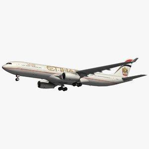 3D model airbus etihad airways a330