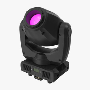 colored spot stage light 3D model